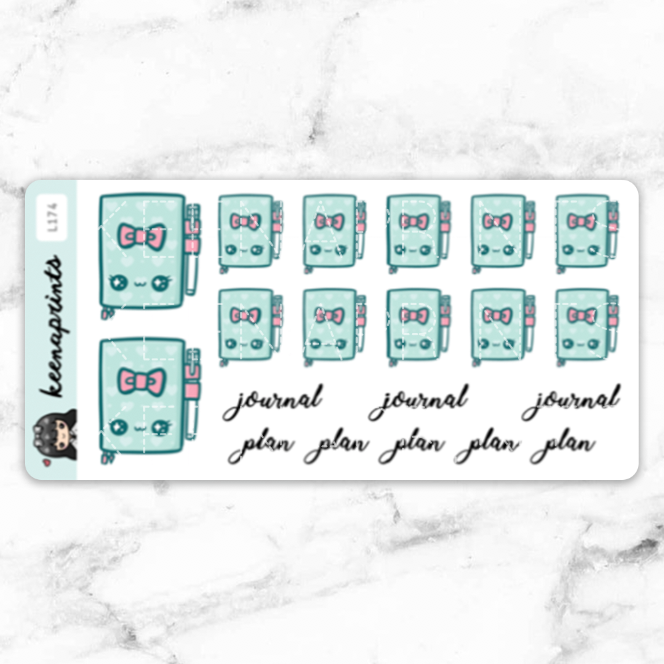 TEA TIME PLANNER STICKERS DAILY - L174 - KeenaPrints planner stickers bullet journal diary sticker emoji stationery kawaii cute creative planner