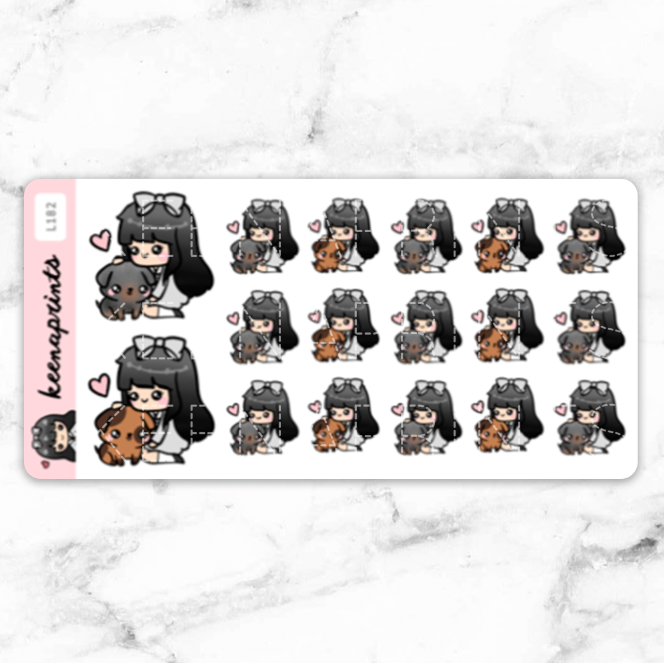 FURMAMA V2 STICKERS LOLA - L182 - KeenaPrints planner stickers bullet journal diary sticker emoji stationery kawaii cute creative planner