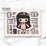 KEENACHI ESSENTIALS CLEAR STICKERS - Z098 - KeenaPrints planner stickers bullet journal diary sticker emoji stationery kawaii cute creative planner