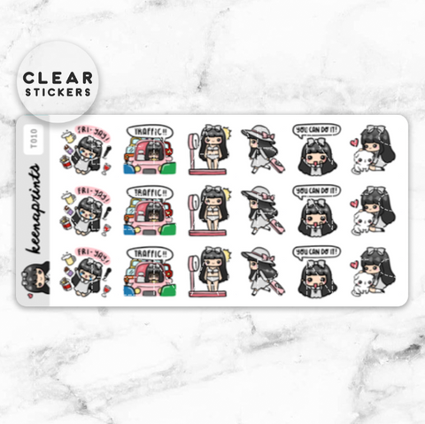 KEENACHI SAMPLER 2 CLEAR STICKERS - T007