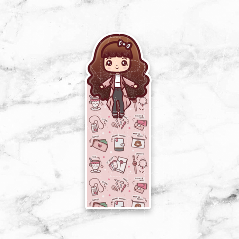 SCHOOL GIRL COMBO STICKERS CHIBI - K015