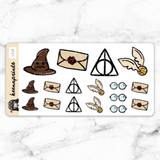 WIZARD WONDERLAND STICKERS DAILY - L218 - KeenaPrints planner stickers bullet journal diary sticker emoji stationery kawaii cute creative planner