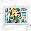 KEENARI NOTECARD - MR024 - KeenaPrints planner stickers bullet journal diary sticker emoji stationery kawaii cute creative planner