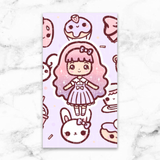 CANDY LOLITA LAMINATED DASHBOARD - DB027 - KeenaPrints planner stickers bullet journal diary sticker emoji stationery kawaii cute creative planner