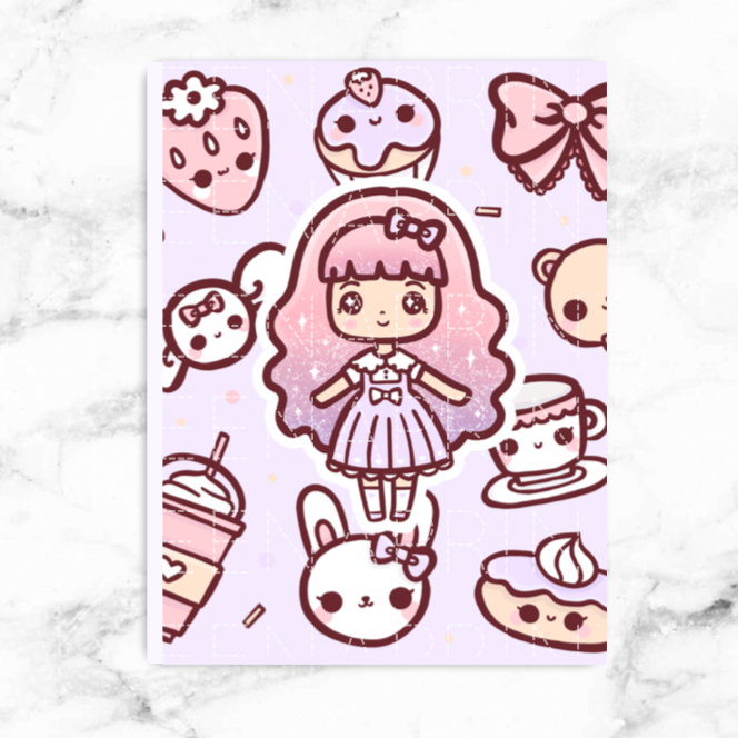 CANDY LOLITA STICKER ALBUM - SA005 - KeenaPrints planner stickers bullet journal diary sticker emoji stationery kawaii cute creative planner