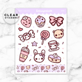 CANDY LOLITA DECO CLEAR STICKERS - Z102 - KeenaPrints planner stickers bullet journal diary sticker emoji stationery kawaii cute creative planner