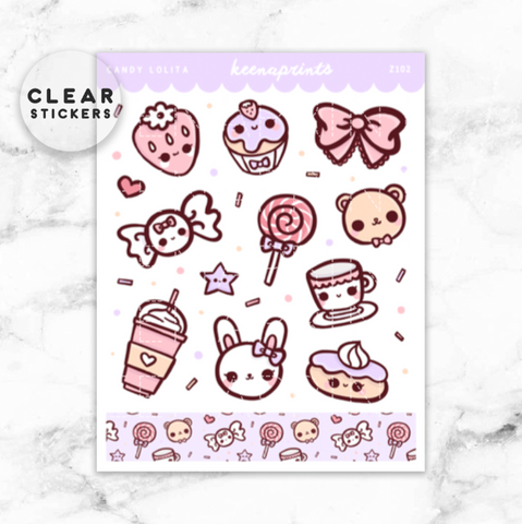 CANDY LOLITA DIECUT STICKER - DC039