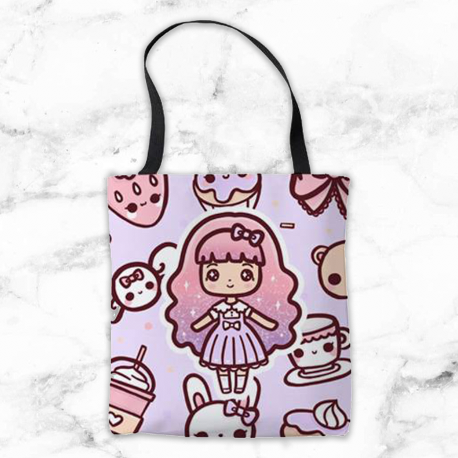 CANDY LOLITA TOTE BAG - MR025 - KeenaPrints planner stickers bullet journal diary sticker emoji stationery kawaii cute creative planner