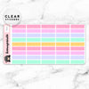 PASTEL MINI LABEL CLEAR STICKERS - T019