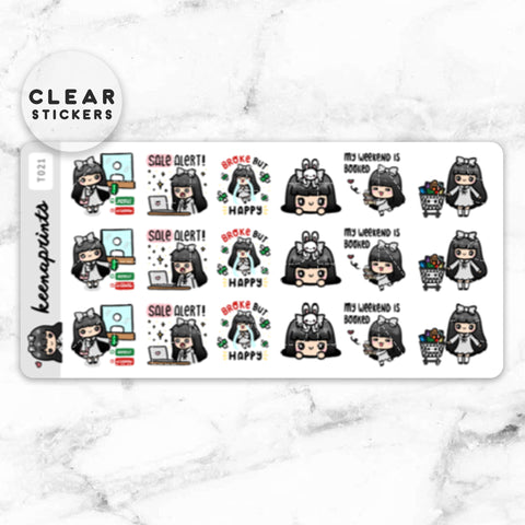 LOLA SAMPLER 1 CLEAR STICKERS - T001