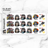 LOLA SAMPLER 6 CLEAR STICKERS - T022