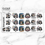 LOLA SAMPLER 9 CLEAR STICKERS - T025