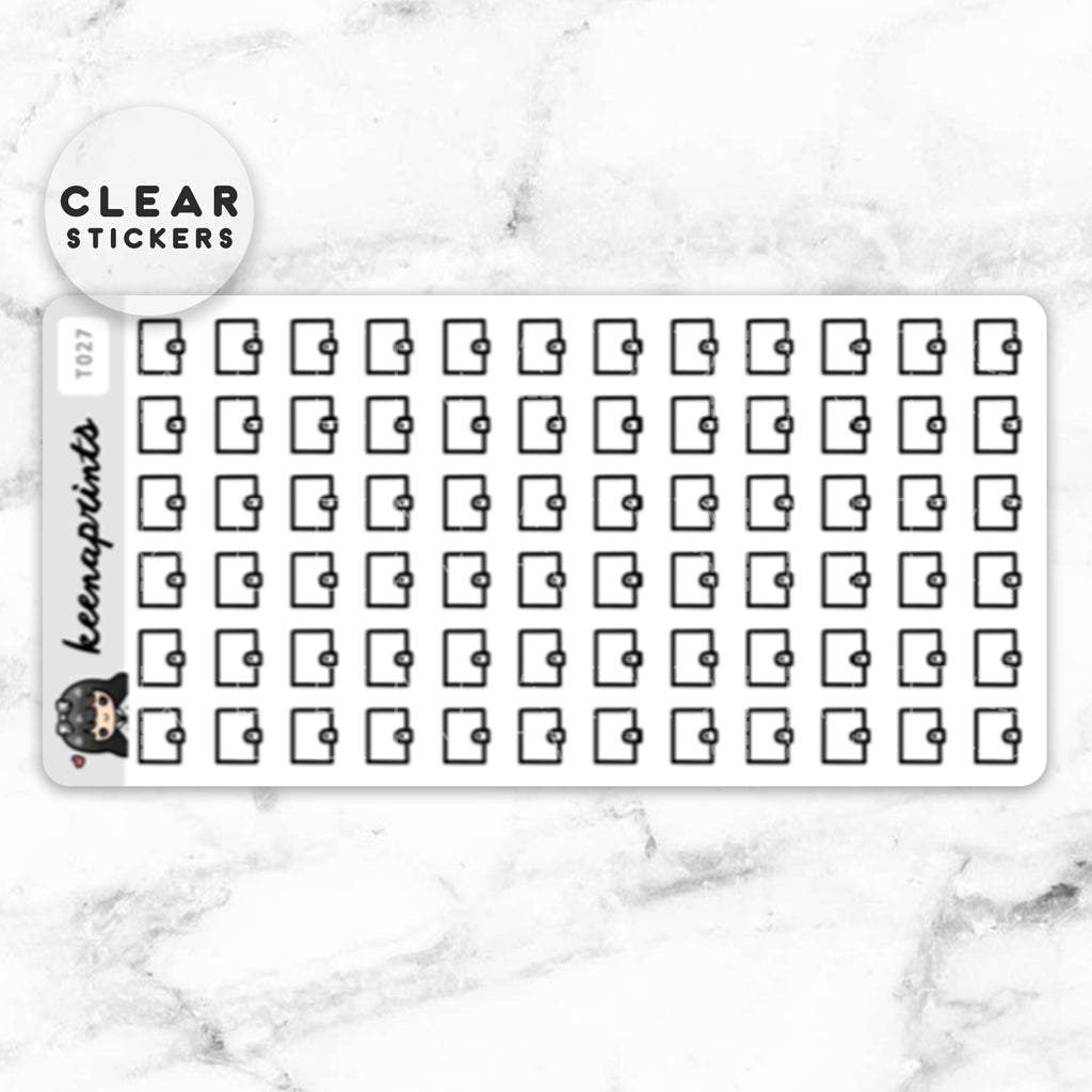 PLANNER CLEAR STICKERS DAILY - T027