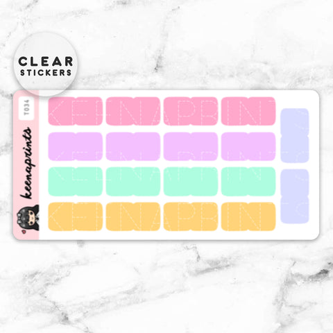 LAUNDRY BASKET CLEAR STICKERS DAILY - T031