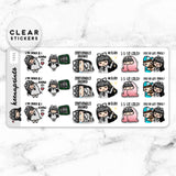 LOLA SAMPLER 13 CLEAR STICKERS - T035