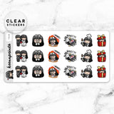 LOLA SAMPLER 16 CLEAR STICKERS - T038