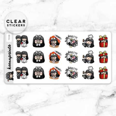 MONTHS LABEL CLEAR STICKERS - T014