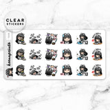 LOLA SAMPLER 17 CLEAR STICKERS - T039