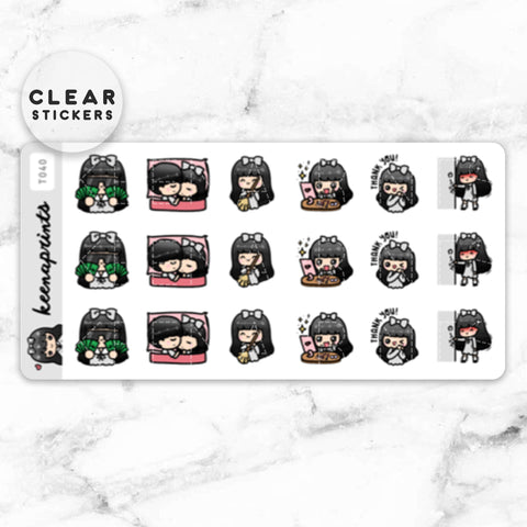 CHORES LABEL CLEAR STICKERS - T042
