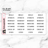WORKOUT LABEL CLEAR STICKERS - T041