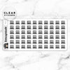 LAPTOP WORK CLEAR STICKERS DAILY - T047
