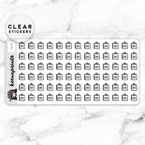NEUTRAL LABEL CLEAR STICKERS - T059
