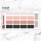 NEUTRAL TABS CLEAR STICKERS - T057