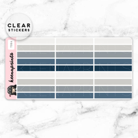 FOUNTAIN PEN CLEAR STICKERS DAILY - T029