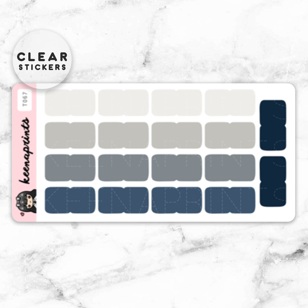 NAVY TABS CLEAR STICKERS - T067