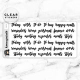 CALLIGRAPHY ESSENTIAL LABEL CLEAR STICKERS - T070