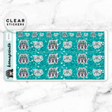 PROFESSIONAL LOLITA WASHI CLEAR STICKERS - W004