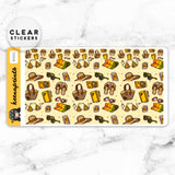SUNSHINE LOLITA WASHI CLEAR STICKERS - W005