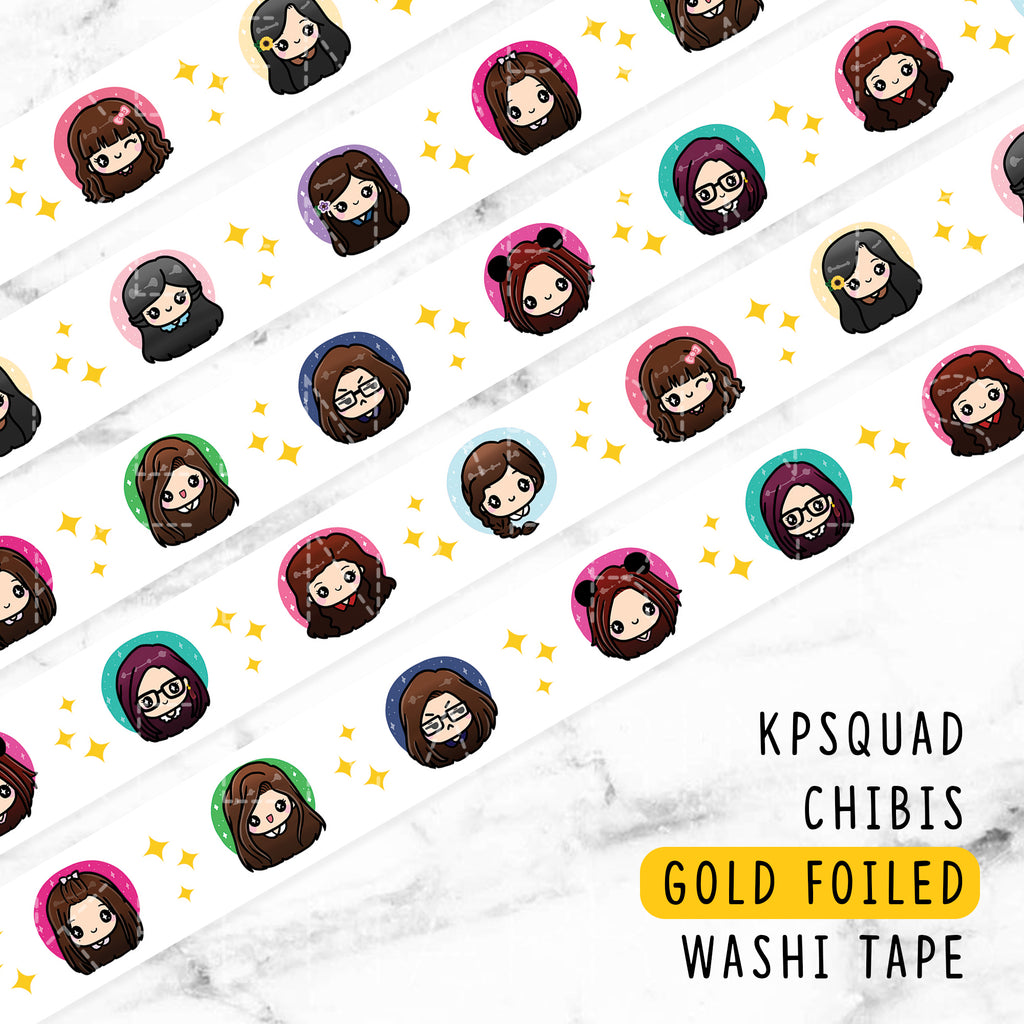 [LIMITED EDITION] 2018 KPSQUAD GOLD FOILED WASHI TAPE - WT025
