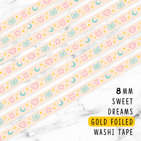 PURPLE CANDY DREAMS ROSEGOLD FOILED WASHI TAPE - WT013