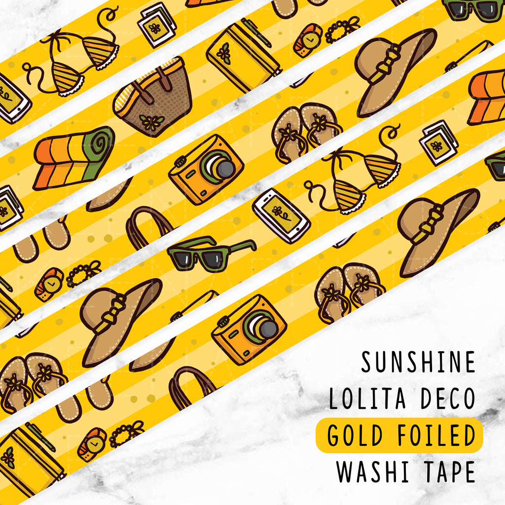 SUNSHINE LOLITA DECO GOLD FOILED WASHI TAPE - WT042