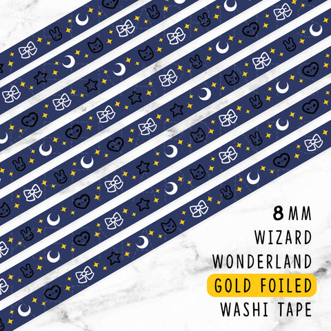 GREEN WIZARD WONDERLAND GOLD FOILED WASHI TAPE - WT010