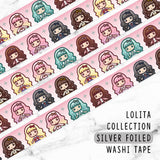 LOLITA COLLECTION SILVER FOILED WASHI TAPE - WT055