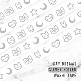 DAY DREAMS SILVER FOILED WASHI TAPE - WT057