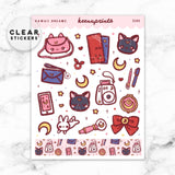 KAWAII DREAMS LOLITA DECO CLEAR STICKERS - Z105