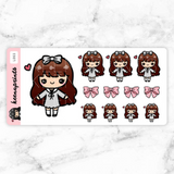 LOLITA STICKERS LALA - L065 - KeenaPrints planner stickers bullet journal diary sticker emoji stationery kawaii cute creative planner