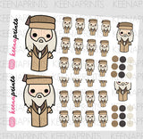 WIZARD CHIBI STICKERS A435 - KeenaPrints planner stickers bullet journal diary sticker emoji stationery kawaii cute creative planner