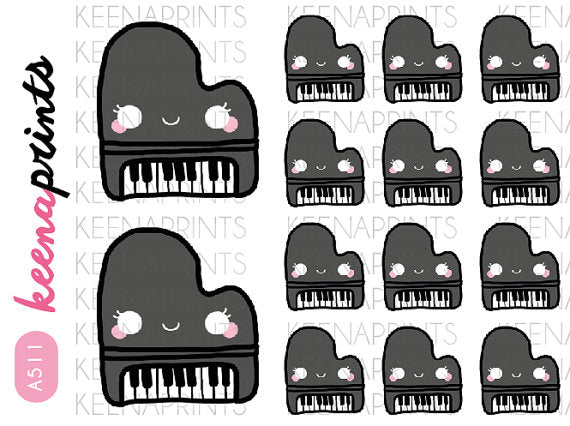 PIANO KEYBOARD DAILY STICKERS A511