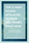 11 high paying affiliate offers to make passive income!