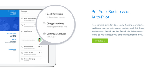 Try Freshbooks for Free