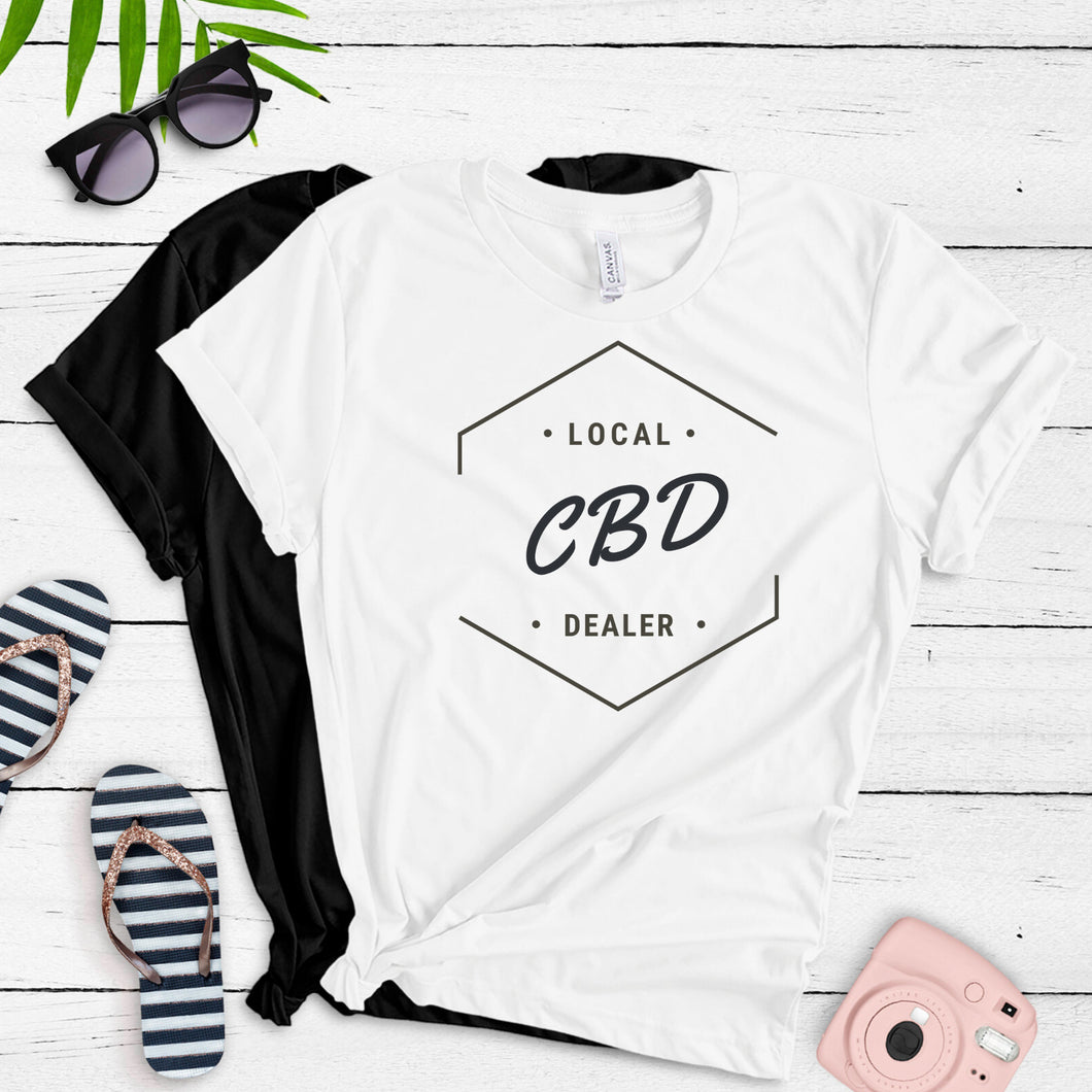 CBD Dealer T Shirt Unisex | Hemp Dealer | Cannabis | Hempworx | CBD Shirt | CBD Business | Self Hemployed