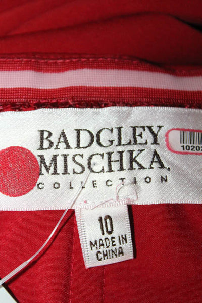 Badgley Mischka Red Beauty in a Bottle Gown $725 Size 10 10202938