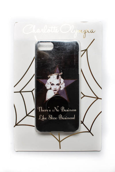 Charlotte Olympia Black Graphic Printed Business IPhone Cover $72 NEW