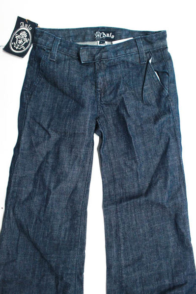 Anlo Blue Dark Wash Low Rise Flare Leg Jeans Size 24 New