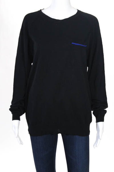 Bespoken  Black Cotton Crew Neck Sweater Size Large NEW $210