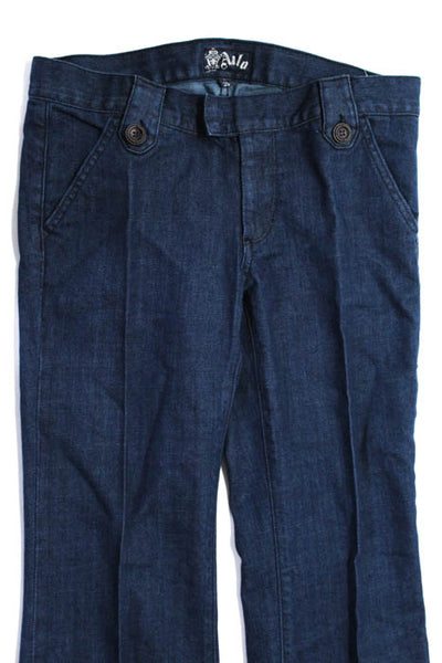 Anlo Blue Cotton Medium Wash 4 Pocket Wide Leg Jeans Size 29 New